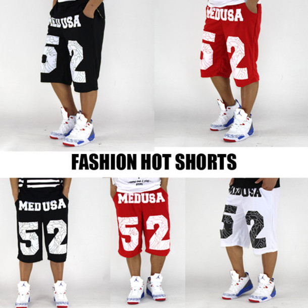 shorts medusa pyrex 52 red white black