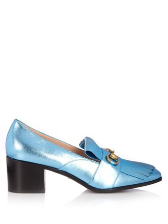 loafers leather light blue light blue shoes