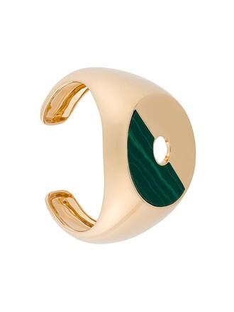 cuff women green jewels
