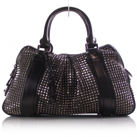 Burberry prorsum leather knight studded black