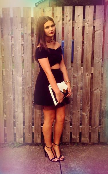 Dress Pretty Black Dress Little Black Dress Sexy Lbd Tulle