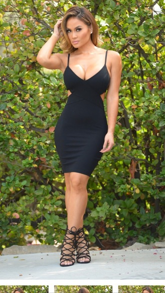 dress black dress high-low dresses sexy party dresses