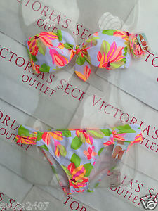 New Sexy Victoria's Secret Swimsuit Belle Bandeau Bikini XS Top s Bottom | eBay