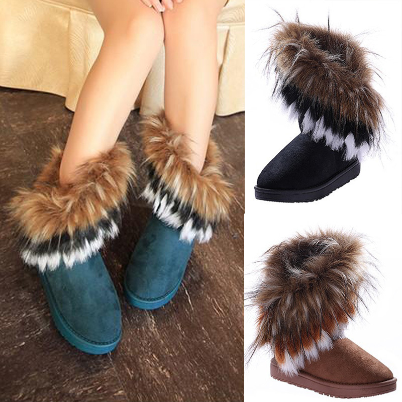 Free shipping 2013 autumn and winter snow boots Feathers  fox fur flat bottomed short cotton padded shoes winter boots # L035568-in Boots from Shoes on Aliexpress.com