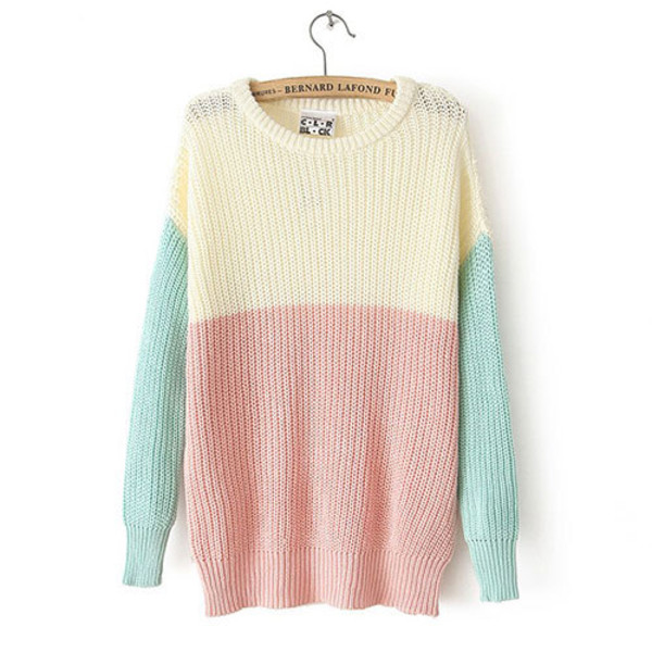 sweater mixed color sweet
