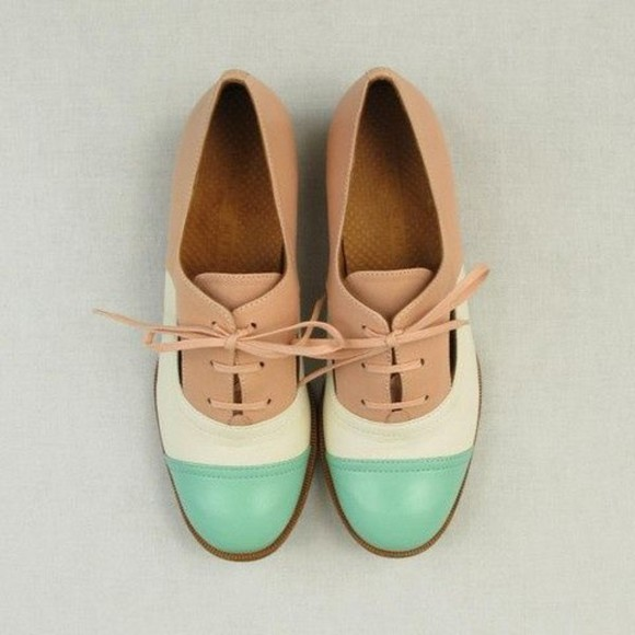 shoes pink pastel mint blue