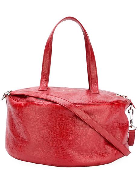 Balenciaga high shine bag, Women's, Red, Calf Leather