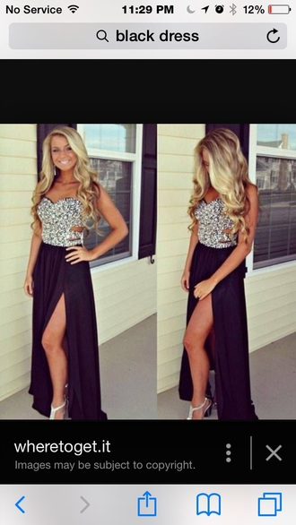dress black prom dress long dress cute dress