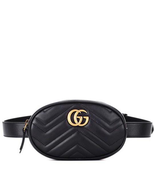 gucci belt bag bag leather black