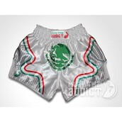 shorts,viva mexico muay thai shorts - muay thai addict,viva muay thai shorts,viva mexico shorts,protector muay thai shorts - platinum