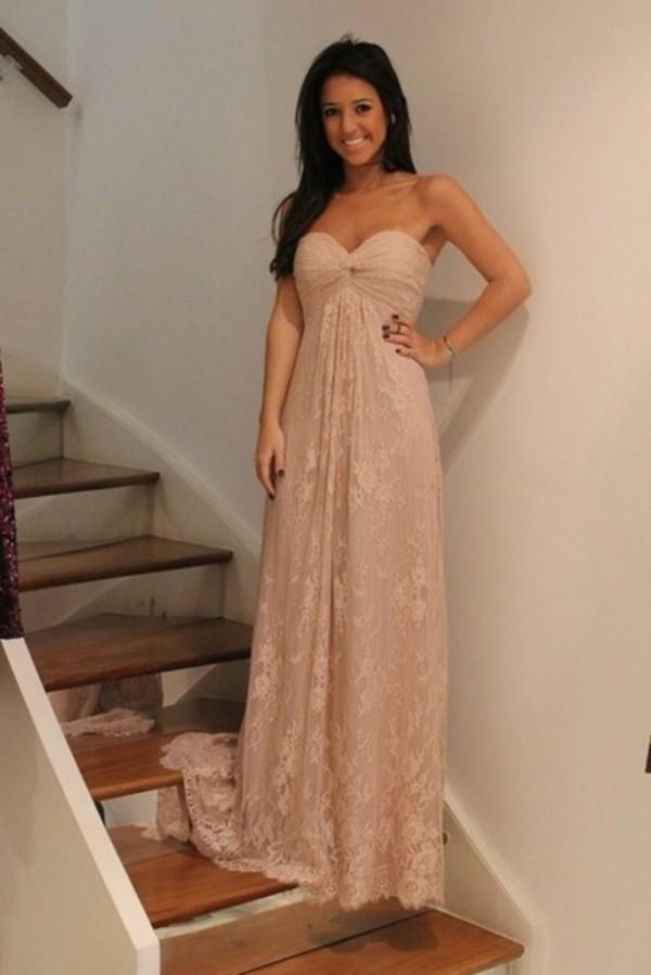 dress lace dress prom dress pink maxi dress sweetheart neckline cute dress