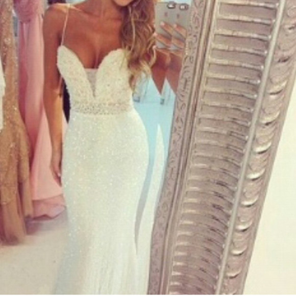wedding dress wedding clothes whitedress prom dress maxi long prom dress long dress
