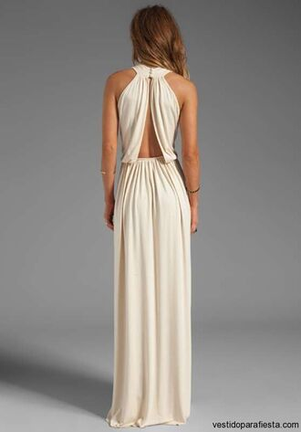 dress formal homecoming dress nude beige maxi lovely classy maxi dress