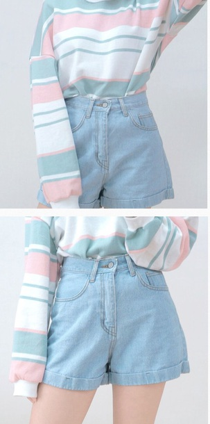 high waisted shorts korean style