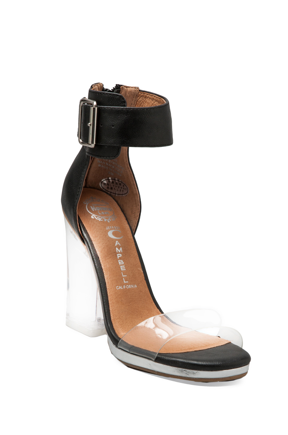 Jeffrey Campbell Soiree in Black Clear Silver | REVOLVE