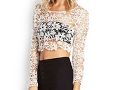 top,cream,crochet,crop,festival,boho,hippie