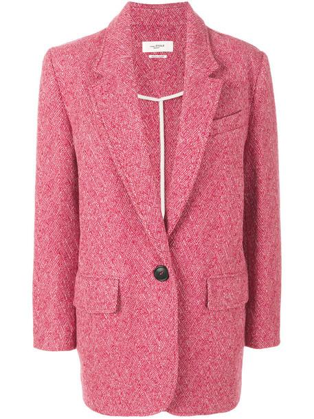 Isabel Marant etoile blazer long women wool purple pink jacket