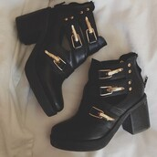 shoes,boots,black,little black boots