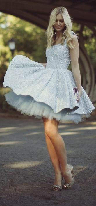 dress twirl dress light blue dress blue dress tull dress tulle skirt cute