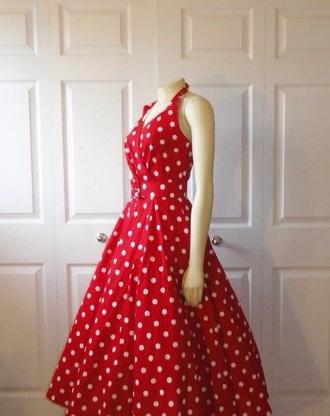 dress red dress vintage dress