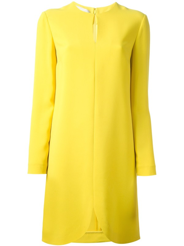 dress stella mccartney yellow dress 'joelle' dress