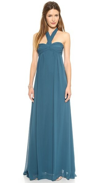 gown strapless long sea love dress