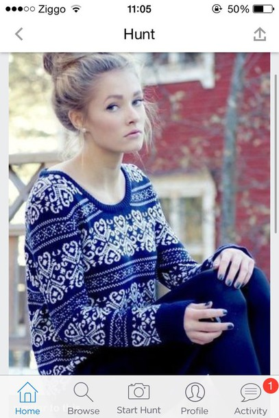 sweater dark blue sweater
