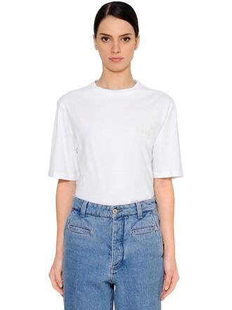 t-shirt shirt oversized cotton white top