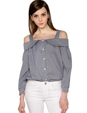 top,pixie market,pixiemarket,cute,cute dress,gingham,grey,black,white,babydoll,straps,off the shoulder,bubble sleeve blouse