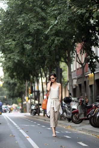 fake leather blogger shirt tank top pants shoes bag sunglasses jewels