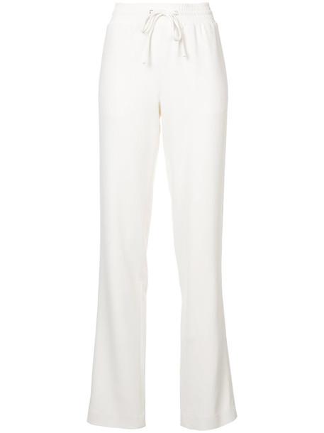 Sally LaPointe pants track pants women spandex drawstring white