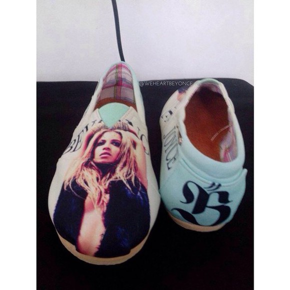 shoes toms cute black style custom shoes customized yonce beyoncé summer shoes summer blue white brown cover