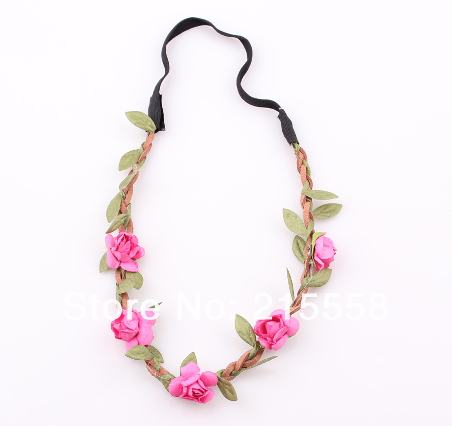 Bride Bohemian Flower Headband Festival Wedding Floral Garland Hair Band Headwear Hair Accessories for Women Wholesale ZH06-in Hair Jewelry from Jewelry on Aliexpress.com