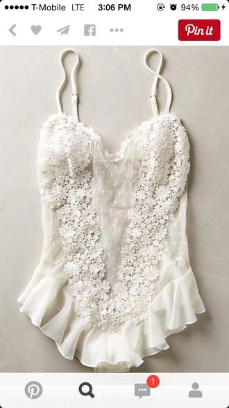 jumpsuit lingerie white lingerie lace