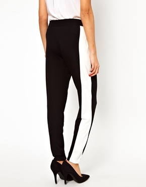 ASOS Maternity | ASOS Maternity Peg Trouser With Side Stripe Panel at ASOS