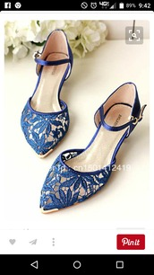 shoes,blue flats,blue wedding accessory