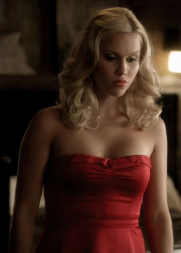 rebekah the vampire diaries vampire red dress red peplum dress