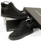 shoes,maniere de voir,women,sneakers,trainers,black,snake embossed,pony fur,fur,hair,suede,leather,virtue