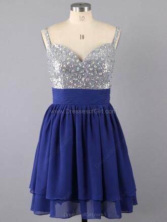 dress a-line v neck short mini ruffle prom dress v neck dress