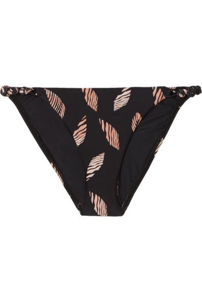 ViX - Seychelles Rope Printed Bikini Briefs - Black
