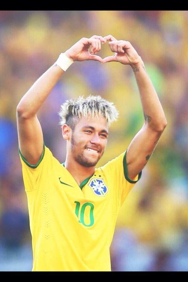t-shirt neymar vm fotball yellow brazil