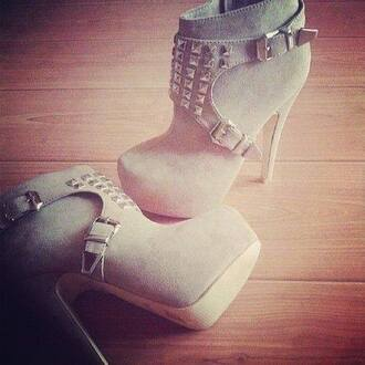 high heels grey shoes shoes boots heels on gasoline heels studded shoes studs