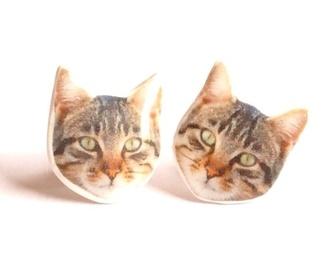 jewels kitty kitten cats earrings funny cute pinky blue beautifull amazing cool meow