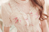 shirt,lace,clothes,roses,top,cute,kawaii,lovely,corset,blouse,flowers,asian,japan,japanese,fashion