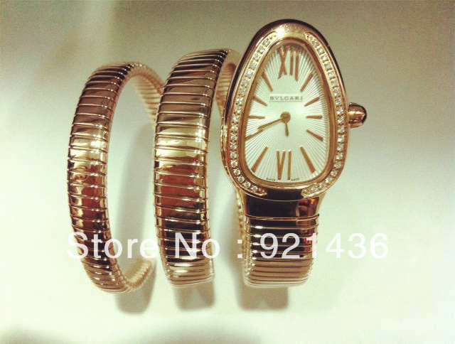 NEW! 2013 snake watch lader fashion watch with diamond rose gold-in Wristwatches from Watches on Aliexpress.com | Alibaba Group