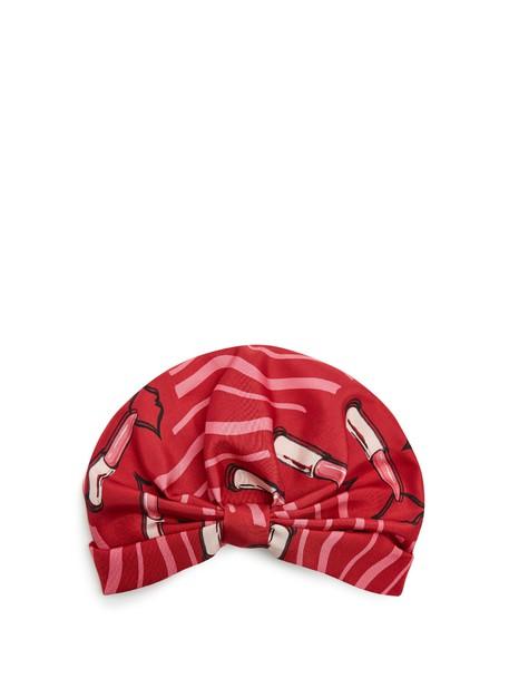 Valentino hat print silk red