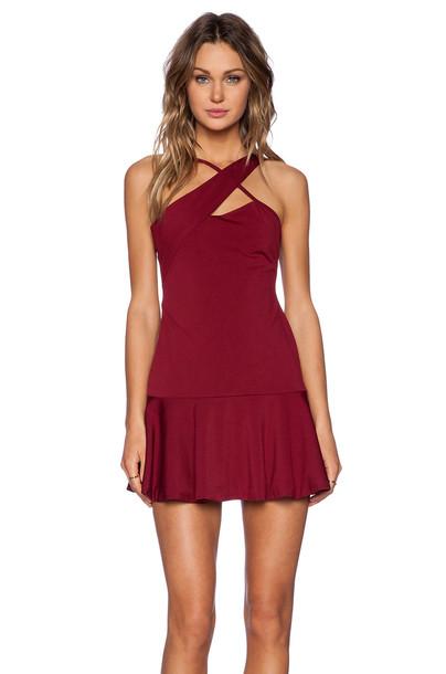 NBD dress burgundy