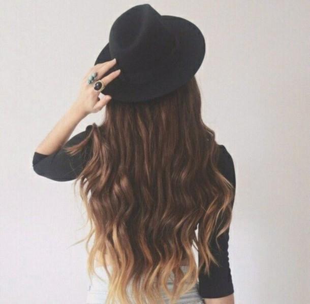 hat style minimalist classy gorgeous black hat grunge rock