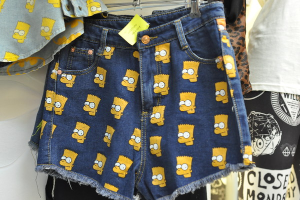 shorts androgyne manila High waisted shorts bart simpson bart sweater jeremy scott the simpsons bart simpson england shirt head denim