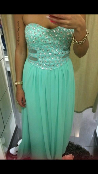 turkise prom dress long prom dress lovely long dress evening dress long evening dress glitter dress glitter pailletten cute dress sexy dress ball dress blue dress green dress prom cool sleeveless dress sleeveless